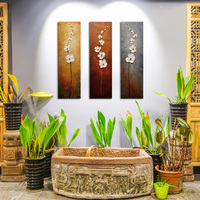 Unframed 3 Panels White Flower Hand Painted Oil Painting Modern Wall Picture Palette Knife Painting For