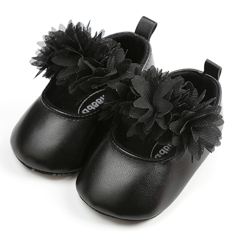 WEIXINBUY spring Lace Flower PU Baby Girl Shoes Anti-slip Soft Sole Bottom Walking Princ ...