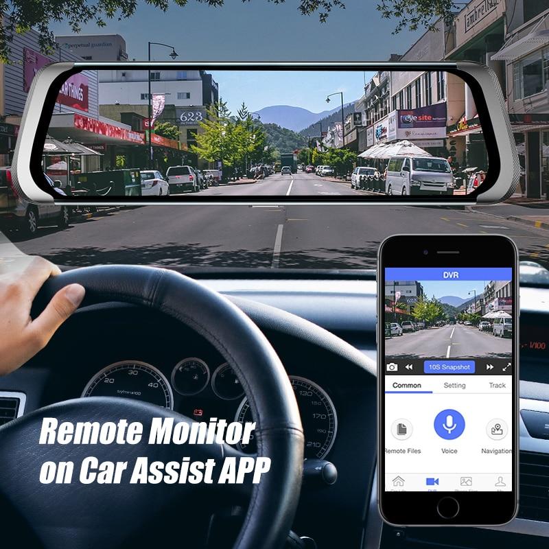 Car DVR 4G Full HD 1080P Android Rear View Mirror Camera