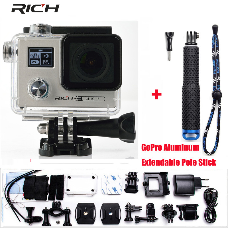 Action camera 4K 24FPS WiFi 1080P/60fps IMX078 170D lens Novatek 96658 Helmet Driving waterproof Extreme Sport Camera