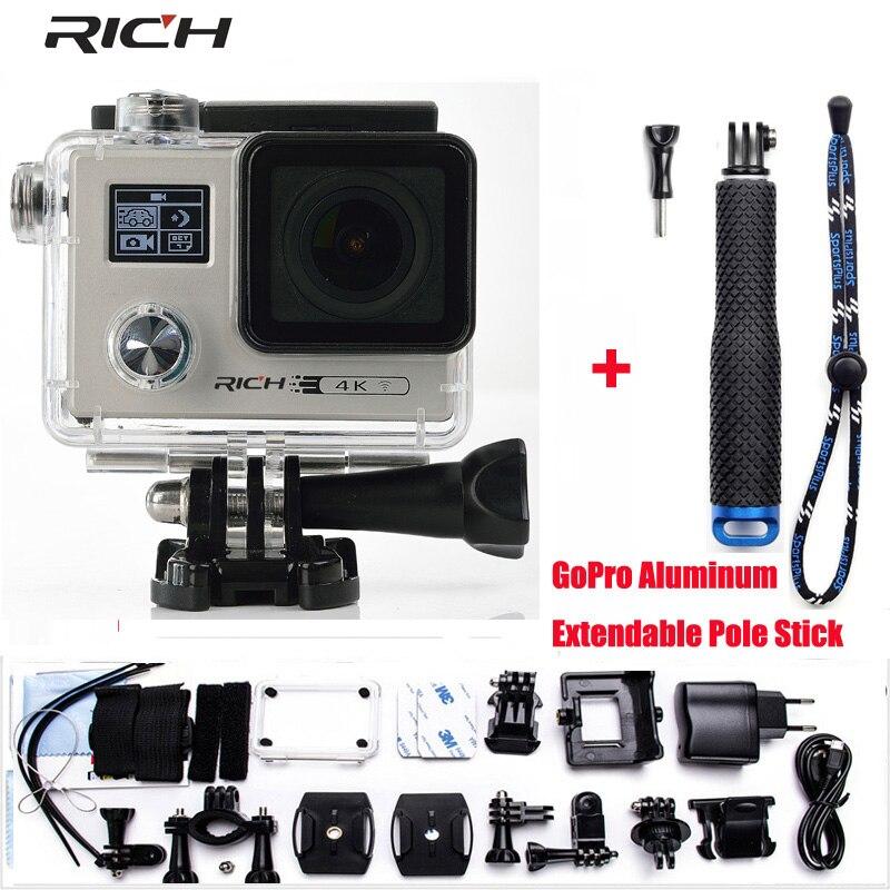 US $82 0 18% OFF|RICH Action Camera 4K 24FPS WiFi 1080P/60fps IMX078 170D  lens Novatek 96658 Helmet Driving Waterproof Extreme Sport Camera-in Sports