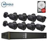 8CH 2MP XVR CCTV System 1080P AHD H.264 4/6/8PCS Video Surveillance System Outdoor Waterproof IR-CUT Security camera kit Movols