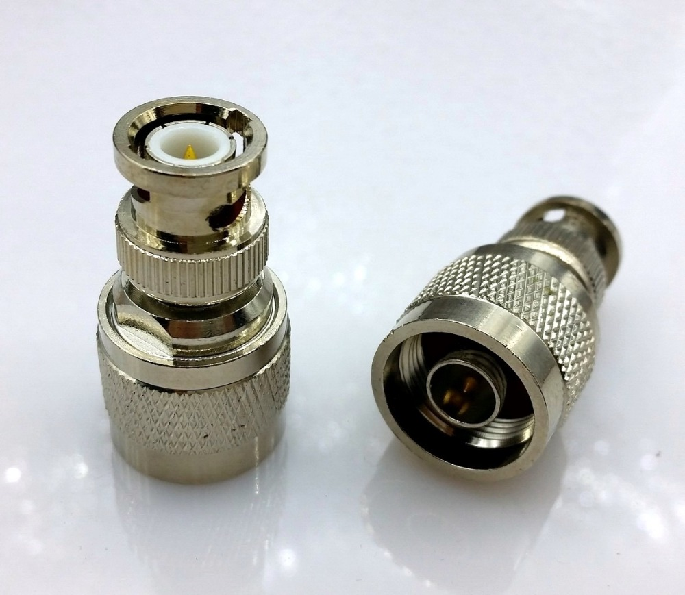 BNC to N type adapter BNC male plug swtich N type male RF coaxial connector N to BNC convertor 1pcs rf adapter n type n male plug to 2 n female 3 way t type long version connector