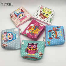 owl coin purses women wallets small cute cartoon kawaii pu leather zipper money bags for girls ladies purse kids children bulk(China)