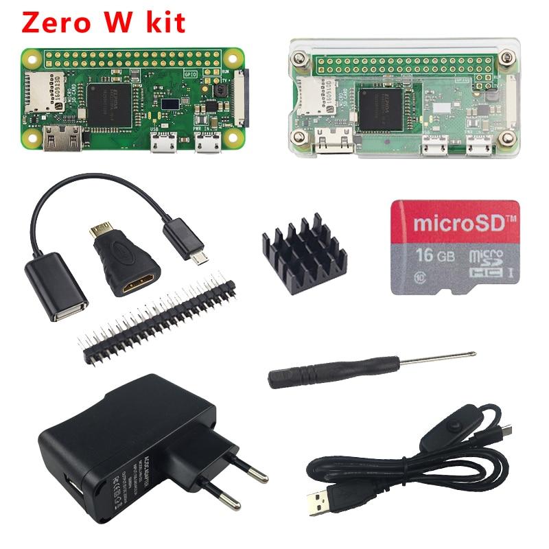 Raspberry Pi Zero W Starter kit with WiFi&Bluetooth+Acrylic Case+Heat  Sink+40 pin GPIO Header+Screwdriver for Raspberry Pi 0 W
