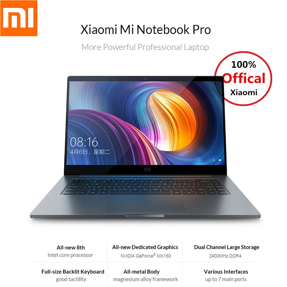 Xiaomi Mi Тетрадь Pro 15,6 дюймов 16:9 1920*1080 ips 256 ГБ SSD Windows 10 Intel Core i5/i7 четырехъядерный ноутбук отпечатков пальцев Двойной Wi-Fi