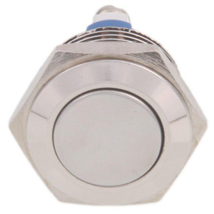 Livraison gratuite trou de montage taille 16 MM laiton nickelé poussière et étanche utilisation à réarmable et bouton de démarrage interrupteur