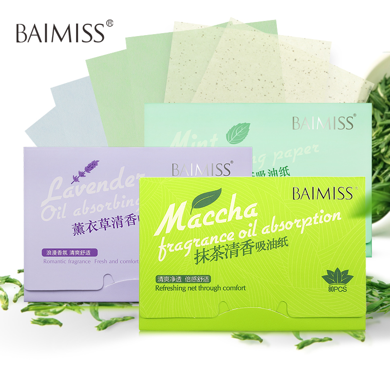 BAIMISS Facial Absorbent Paper Oil Absorbing Sheets Deep Cleanser Black Head Remover Acne Treatment Beauty Products 3PCS shanghai 100pcs box oil blotting sheets absorbing paper face oil control makeup tools cleansing face oil absorbing sheets