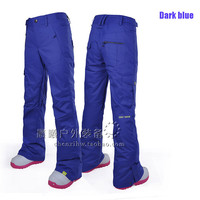 Gsou Snow Ski Pants A female South Korean Model of Single and Double Board Waterproof Breathable Charge Pants More Winter