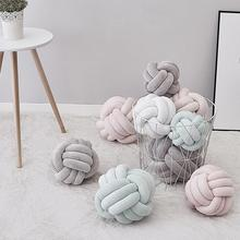 Newborn Baby Infant Knot Nursery Cushion Plush Dolls Throw Pillow Children's Ball Toys Baby Bed Bumpers