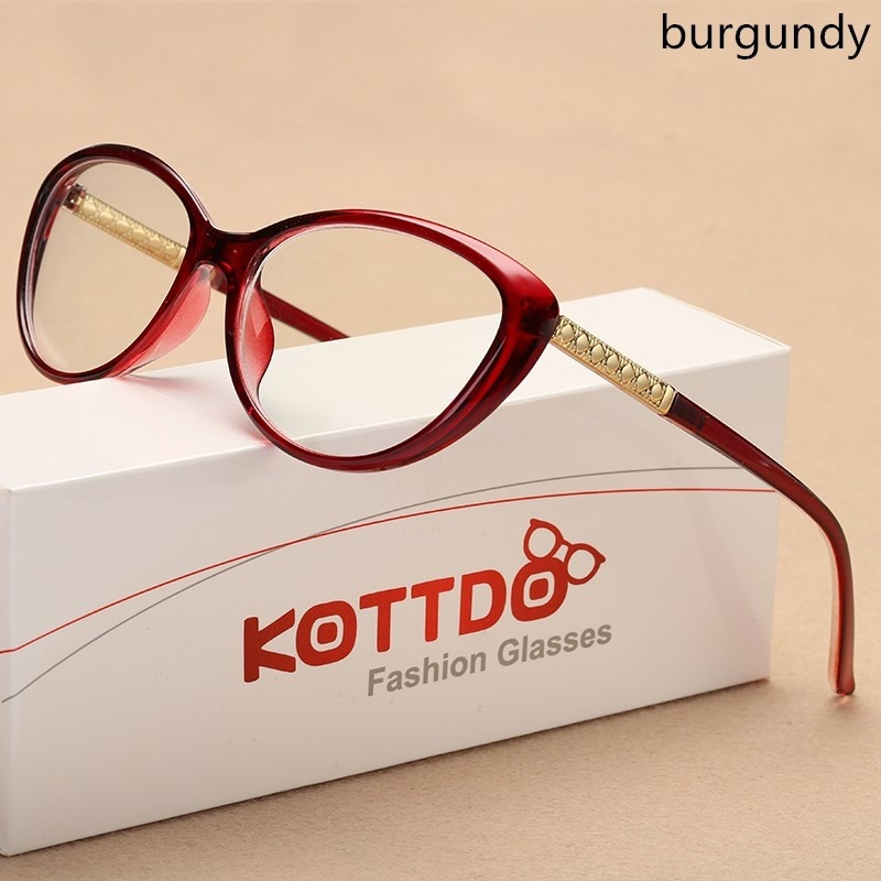 KOTTDO Cat Eye Glasses Frame Prescription Optical Glasses Men Eyeglasses Frames Women Eyewear Frame