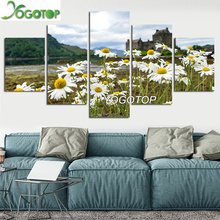 YOGOTOP DIY Diamond Painting Full Embroidery 5D Square/Round Drill Mosaic Wall Decor daisy Flower natural landscape 5pcs ML609