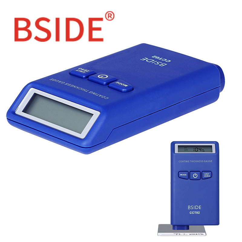 BSIDE CCT02 Mini Digital Coating Thickness Gauge Automotive Paint Tester F/N Probe 2000um/78.7mils with LCDBSIDE CCT02 Mini Digital Coating Thickness Gauge Automotive Paint Tester F/N Probe 2000um/78.7mils with LCD
