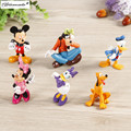 Yamala 6pcs/a set Clubhouse Anime  Minnie Mouse Plastic Toys PVC Mini Action Figures  Kids Toys Baby Gift