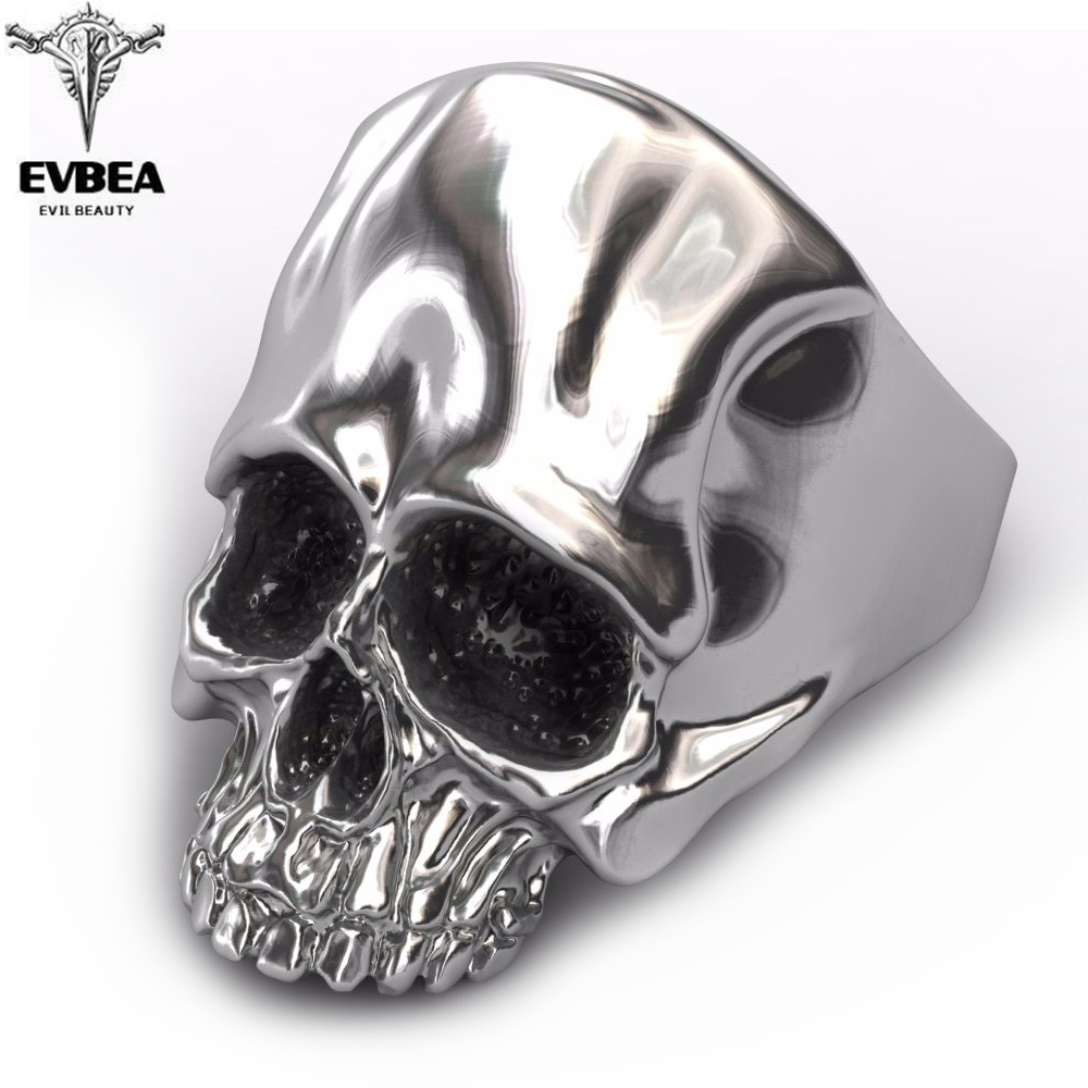 EVBEA Skull Rock Rings Wholesale Fashion Big Plated Men Ring 316 Stainless Steel Rings For Men Jewelry 2019 New Design