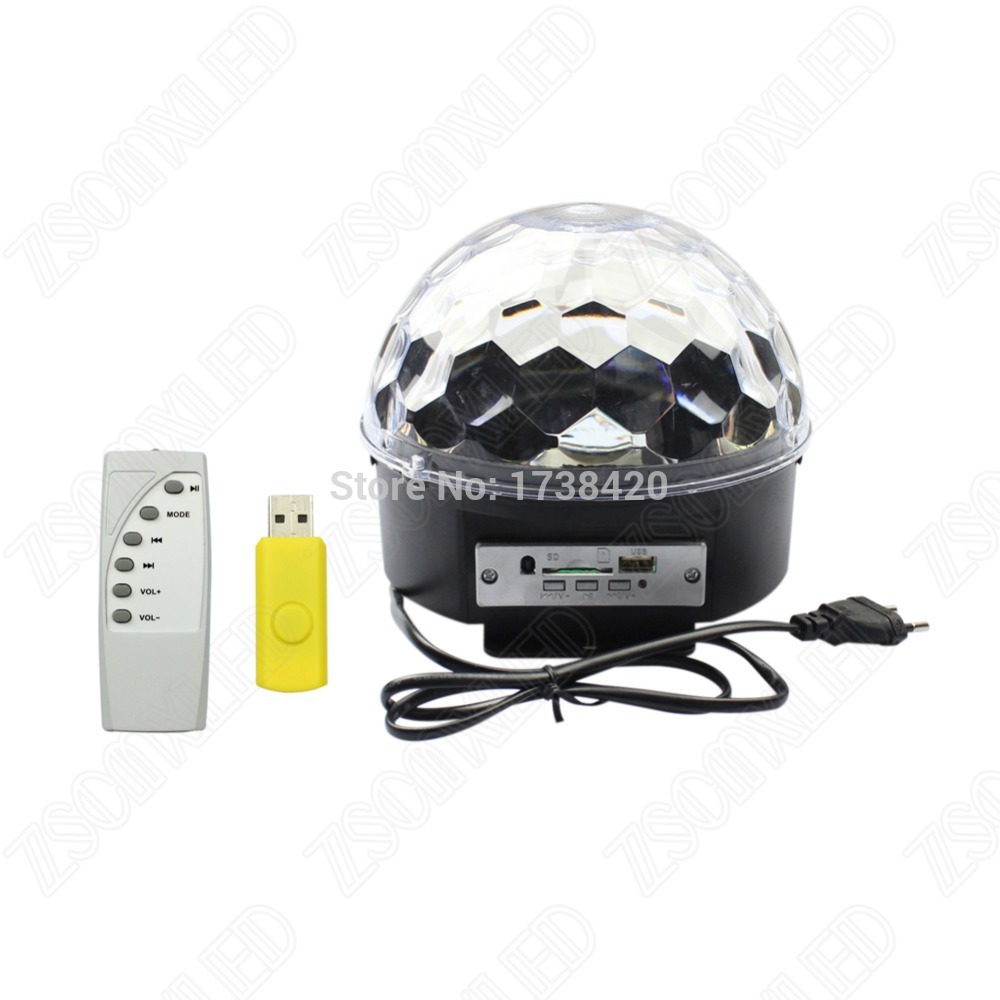 Free Shipping 6W*3 Music Crystal Magic Ball RGB DMX LED Stage Lights with Remote laser christmas lights disco lightFree Shipping 6W*3 Music Crystal Magic Ball RGB DMX LED Stage Lights with Remote laser christmas lights disco light