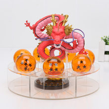 7pcs Dragon Ball Z Figure Red/Golden/Green Shenron Shenlong Shelf With 4cm 7 stars Crystal Balls PVC Action Figures Set(China)