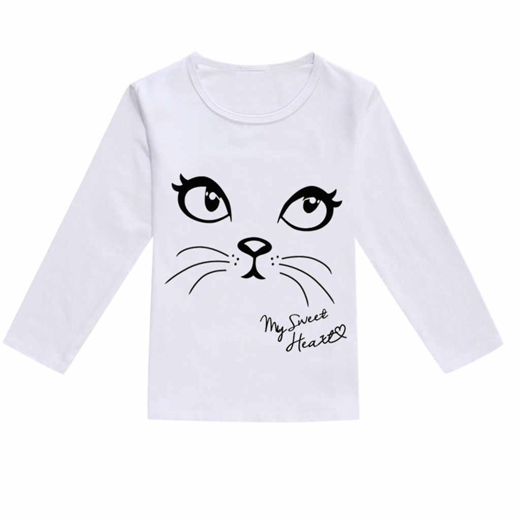 เด็กแขนยาวการ์ตูนแมวไดโนเสาร์เสื้อยืด Octopus พิมพ์เด็กวัยหัดเดินเด็กทารกเด็กชายหญิงฤดูใบไม้ผลิเสื้อยืด camiseta
