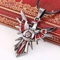 Wholesale League of Legends Weapon Necklace LOL Ferrell Zhuo Dezhi Heart Necklace LOL Weapon Sword Pendant Keychain For Men
