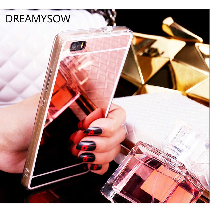 Mirror Electroplating Soft TPU Case For huawei P8  P8 lite P9 P9 Plus P9 lite G9 Nova Lite P10 Lite High quality Back cover