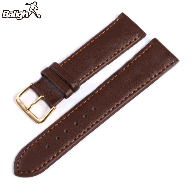 /est / Relogio Strap Black And Coffee Genuine Leather Alligator Crocodile Grain Watch Band