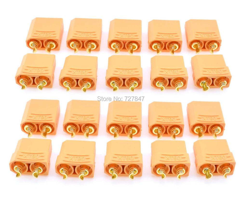 Hot sale 10 Pairs Female Male XT90 Banana Fiche Prise Balle Connector for RC plug Battery 10 pairs female male xt90 banana bullet connector plug for rc lipo battery b