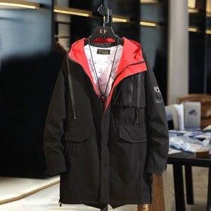Image 3 - B חדש אביב מעילי Mens הסוואה ארוך מעיל רוח מעילי הלבשה עליונה מזדמן רופף ברדס מעיל בתוספת גודל 10XL