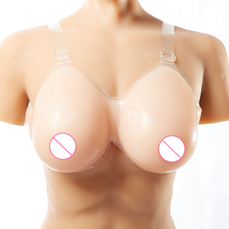Hot Sale A/E Cup Realistic Silicone Breast Forms Strap Fake Boobs False Breasts Bust Enhancer for Crossdresser
