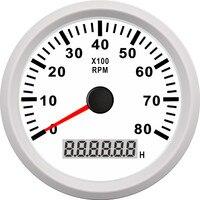 85mm 8000RPM Car Boat Tachometer Digital Engine Tach Hour Meter Tachometer Gauge for motorcycle car boat rpm meter 12V/24V
