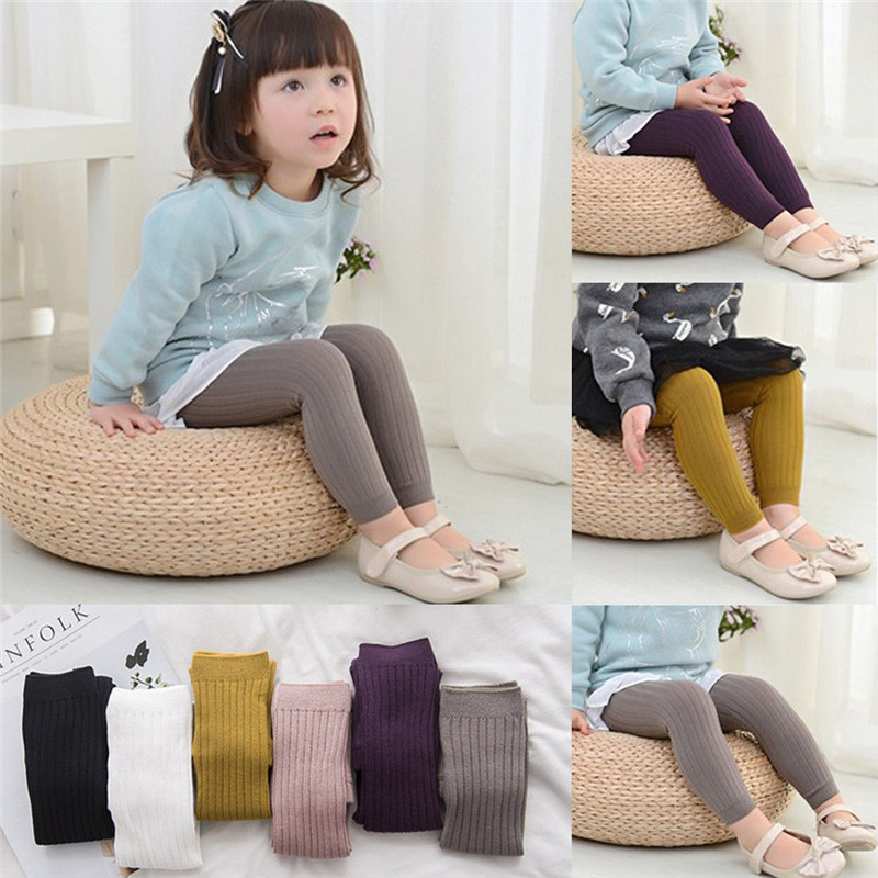 0-5Y Baby Infant Girl Boy Knitted Cotton Warm Tights Solid Color Children Pantyhose Fashion Stocking Autumn Winter Warm Thights