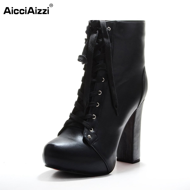 Women Ankle Boots Elegant Lace Up Pointed Toe Spike Heels Boots Woman High Quality Heeled Footwear Shoes Size 35-46 B096 health eye care electrical magnetic alleviate fatigue relax massager forehead y207e hot sale