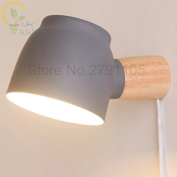 Nouveau Design 360 Degrés Rotatif Prise De Ceinture Et Fil Lire Applique Murale Simple Originalité Chambre Chevet Salon Mur LED Lampe