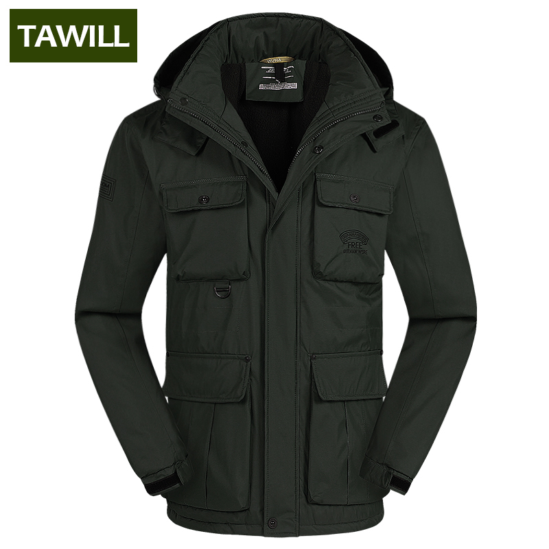 TAWILL Brand Casual Parka Winter Jacket Men Coat Warm 2016 New Arrival Multi Pocket Plus size 4XL 5XL 6XL 69035 winter jacket men 2016 brand parka plus size men s hooded parka zipper quilted coat casual jackets