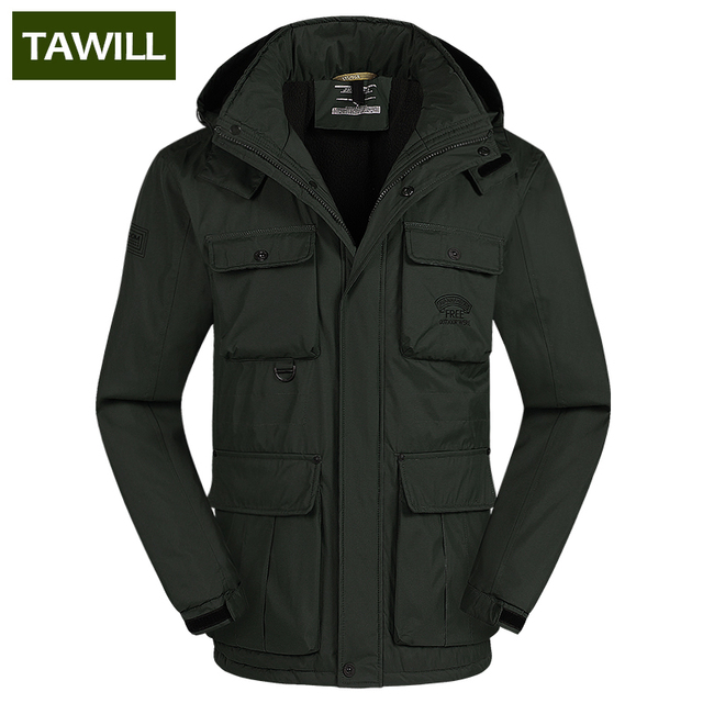 TAWILL Brand Casual Parka Winter Jacket Men Coat Warm 2016 New Arrival Multi Pocket Plus size 4XL 5XL 6XL 69035