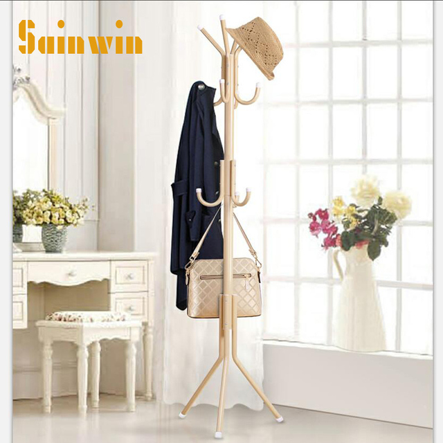 Sainwin 1pcs Metal hanger bedroom coat and hat stand hangers ...