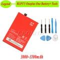 3100 mah original bateria blp571 para oneplus one batterie bateria do acumulador akku pil one plus one + desmontar ferramentas