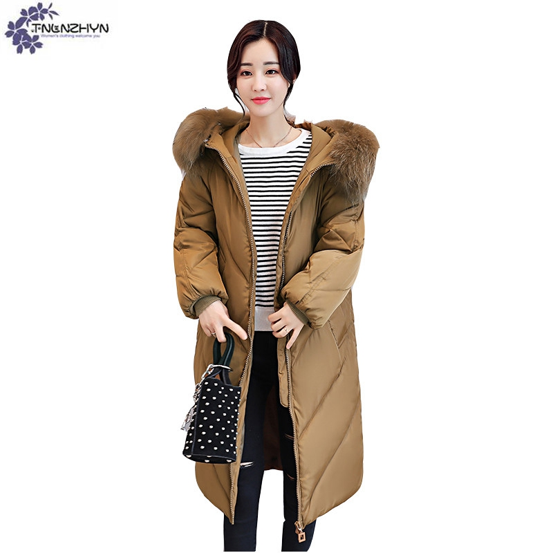 TNLNZHYN Women clothing High end warm Cotton coat winter New Fashion Loose Large Size Thicken long female Cotton Outerwear QQ444