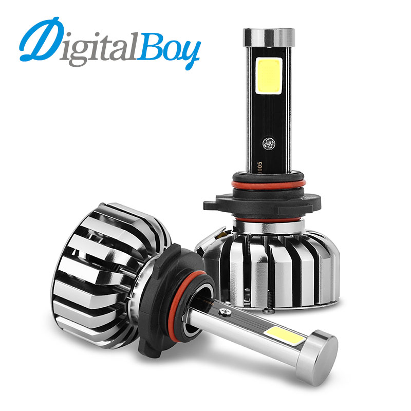DIGITALBOY 9005/HB3 LED Headlight COB 80W LED Bulbs Car Conversion Kit 8000LM 6000K Single Beam LED Headlamp Front Fog Lights 1pair dc9 36v h1 cob 160w 8000lm led headlight kit lights beam bulbs 6000k external lights