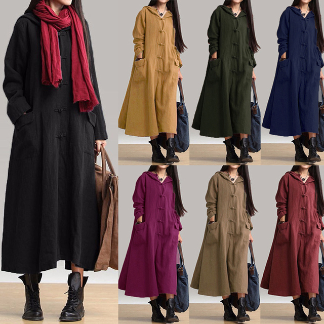 17ad4e14366 2018 ZANZEA Vintage Button Down Shirt Dresses Women Casual Long Vestidos  Autumn Long Sleeve Vestido Cotton Linen Oversized Dress