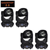 Gigertop TP L670 130W Led Moving Head Super Beam Light 4x25W Tyanshine 9/15 Channels Rotating Lens Prism Beam Effect PARTY DJ