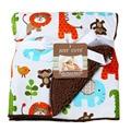 Одеяло для обертывания новорожденных, высокое качество, мягкое, с изображением животных