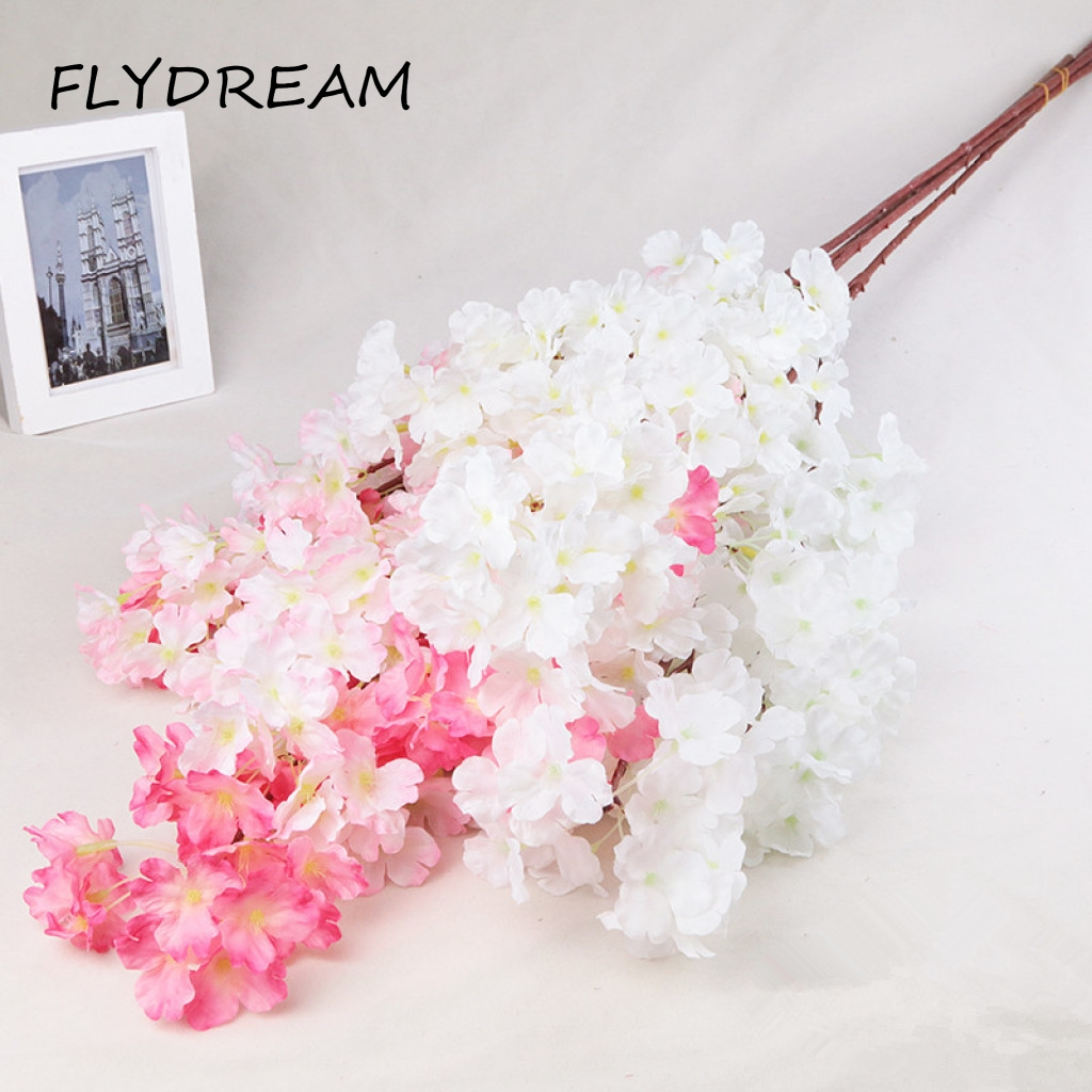 Compare prices on cherry blossom silk flowers online shoppingbuy fiydream 2017 new best sellers silk cherry blossom artificial flowers diy for wedding home party decoration dhlflorist Image collections