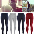 Ladies Women Clothing Sexy butt Black Red Grey Leggings Trousers Pants Size cotton UK