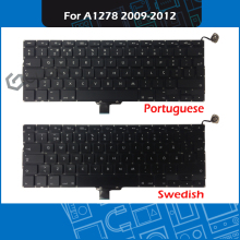 New Laptop Keyboard Portuguese Swedish Swiss Thai for Macbook Pro 13″ A1278 Keyboard Portugal Sweden Switzerland Thailand