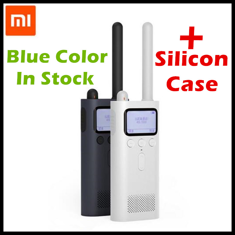 Original Xiaomi Mijia Smart Walkie Talkie FM Radio 8 Dayds Standby Phone APP Location Share Fast Team Talk For Smart Control 2pcs mini walkie talkie uhf interphone transceiver for kids use two way portable radio handled intercom free shipping