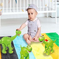 Cartoon Brontosaurus Electric Dinosaur Lighting Sounds Open Mouth Dinosaur Children's Educational Toys Automatic Walking