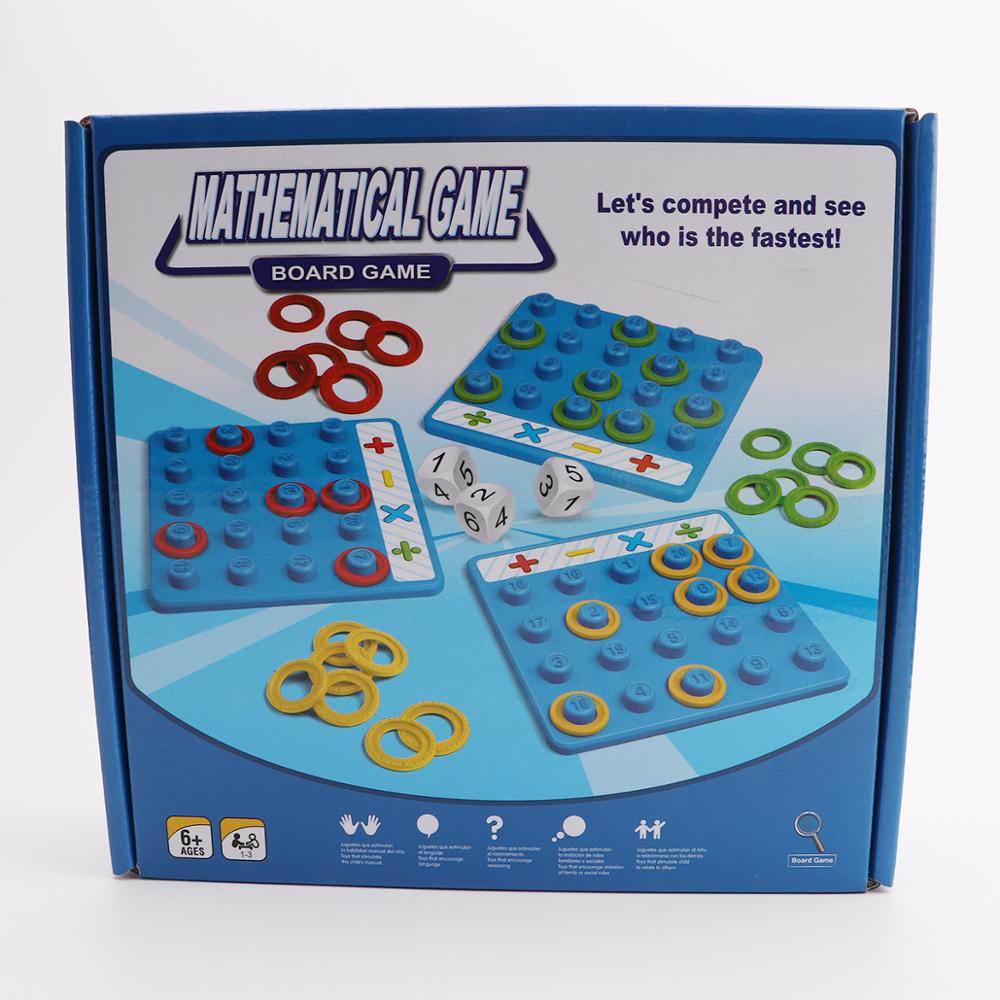Mathematical Game Interactive party game Memory Logic Game Children's Puzzle Toys Montessori operation games for kids image