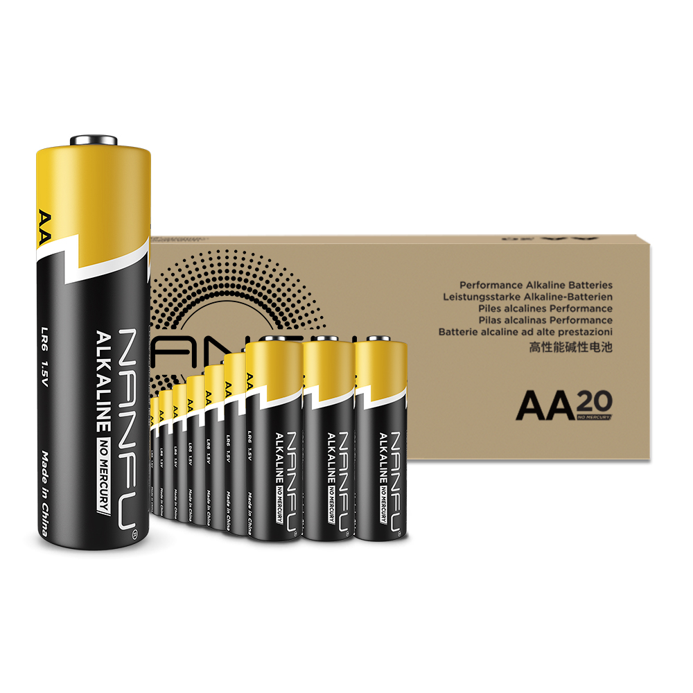 NANFU 20 pack AA Batteries Ultra Power LR6 Alkaline Battery 1.5v for Clocks Remotes Games Controllers Toys & Electronic Devices