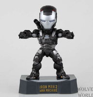 Superhero Iron Man 2 led light Action Figures PVC brinquedos Collection Figures toys for christmas gift with Retail box