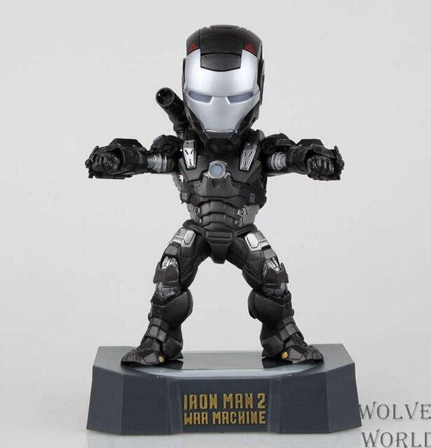 גיבור איש ברזל 2 led אור פעולה דמויות pvc דמויות צעצועי אוסף brinquedos מתנה לחג המולד עם תיבה הקמעונאי